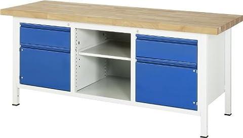 RAU Werkbank Serie BASIC-8 (AKTION), 1 Stück, lichtgrau/ enzianblau, A3-8561I2-20S
