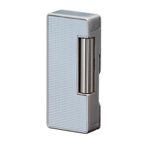 Sarome PSD 37-03 - Pfeifenfeuerzeug Sarome inkl. Pfeifenbesteck silver polished lattice alumite