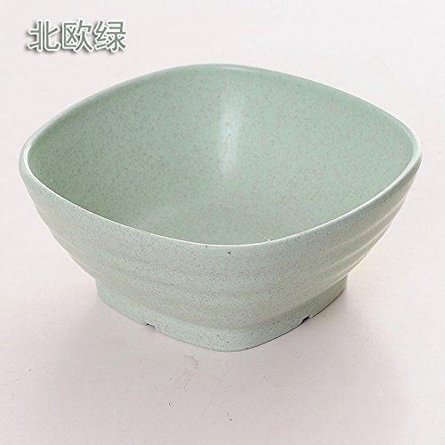 WWYXHQC Möbel täglichen Bedarfs Home Sweet Kreativität Geschirr Reis Essen Schüsseln Kunststoffblase Macaroni Salad Bowl für japanische Studenten Soup Bowl,2593 Paare Nordische Grüne
