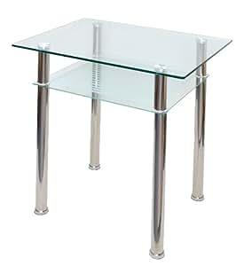 Table en verre console ordinateur table d 39 appoint 80 x 60 for Table cuisine 80 x 60