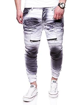 MT Styles Biker Jeans Slim Fit Hose RJ-3222