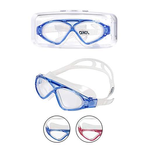 JOKO DIRECT Schwimmbrille für Kinder Schwimmbrille für Kinder im Alter von 9–14 Jahren, mit Anti-Beschlag, UV-Schutz, 180o perfekte Sicht und kein Auslaufen, blau