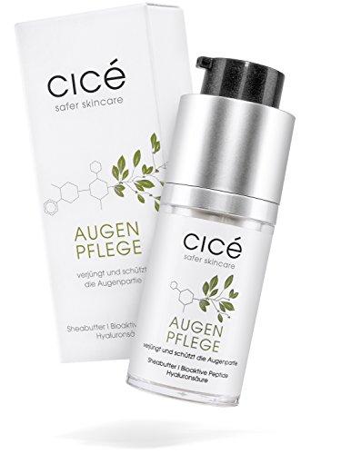 cicé Abschwellende Anti-Aging Augenpflege – Augencreme gegen Falten, Tränensäcke, Augenringe – auch für Männer