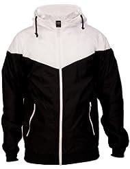 Urban Classics Chaqueta para hombre, Arrow Windrunner Black/ White XL