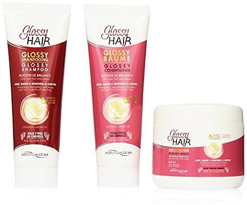 Veana Claude Bell GLOSSY CHEVEUX shampooing, APRÈS-SHAMPOOING plus masque, Lot de 1 paquet (1 x 1 L )