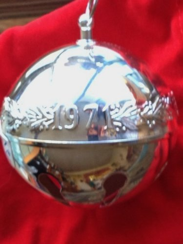 Wallace Limited Edition einjährig Sleigh Bell 25. Jahr Wallace Sleigh Bell Christmas Ornament
