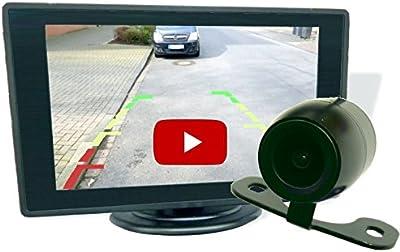 Disco trasero berryking seguro cámara de marcha atrás + 4,3TFT LCD color Monitor, guías de profundidad, resistente al agua y al polvo (Splash)