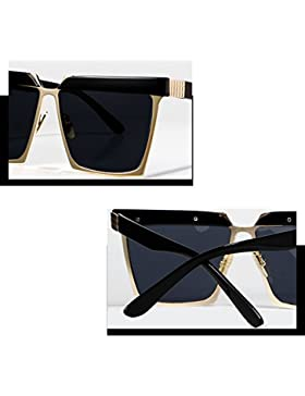 Amazing Gafas de sol Mujeres Fashion Flashes Gafas de personalidad negro ( Color : B )