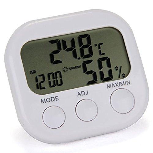 LCD Digital Thermometer Hygrometer Indoor Spur Uhr Genaue In / Outdoor und Feuchtigkeitsmessgerät Temperatur