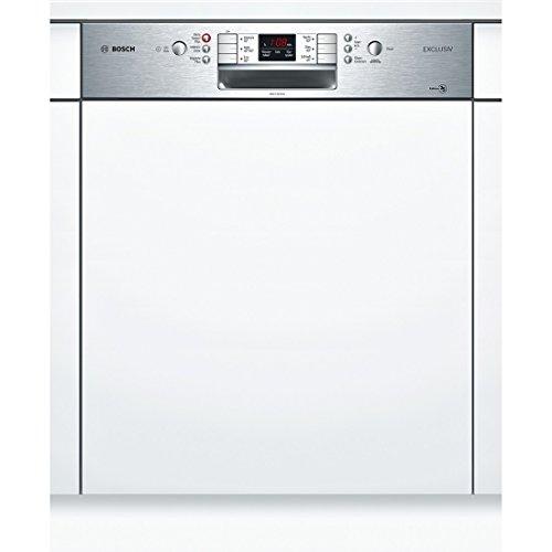 Bosch smi86p75de Semi integrierter 14places A + + + Spülmaschine-Geschirrspülmaschinen (Semi Integriert, Full Size (60cm), Edelstahl, Knöpfe, 1,75m, 1,65m)