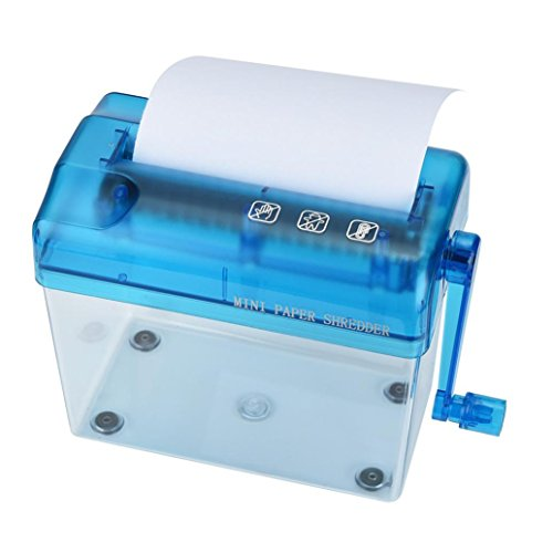 HKFV Haushalt Mini manuelle Papier Aktenvernichter Hand einfache Papier Aktenvernichter Aktenvernichter für 8 Blätter für Papier Kreuzschnitt