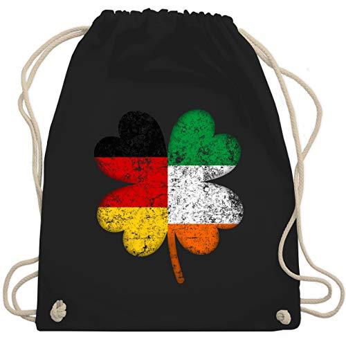 Kostüm Kleinkind Irland - St. Patricks Day - Deutschland Irland Kleeblatt - Unisize - Schwarz - WM110 - Turnbeutel & Gym Bag