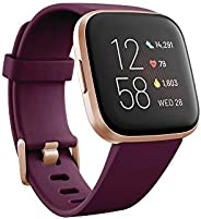 Fitbit Versa 2, Smartwatch con control por voz, puntuación del sueño y música, batería de +4 días [Exclusiva A