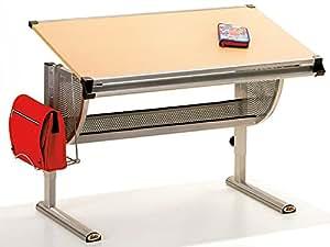 Inter Link Schülerschreibtisch Kinderschreibtisch Arbeitstisch Schreibtisch MDF Buchenholz Nachbildung