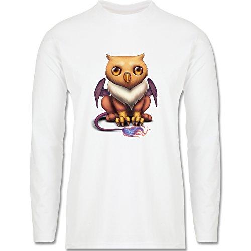 Sonstige Tiere - Baby Greif - Longsleeve / langärmeliges T-Shirt für Herren Weiß