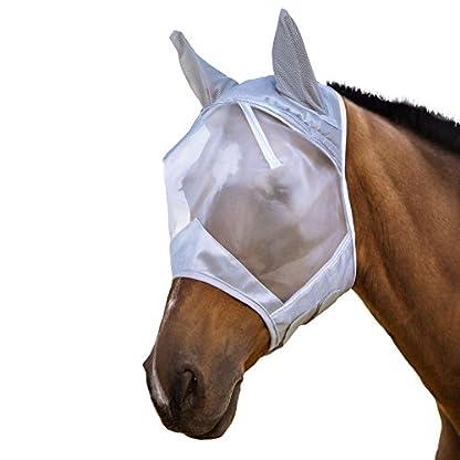 Harrison Howard CareMaster Fly Mask Half Face Moonlight Silver (S; Pony) 2