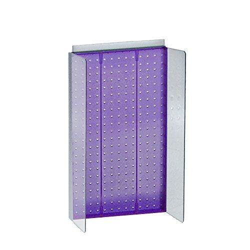 r 34,3cm W x 55,9cm H Stecktafel Powerwing Display mit 11,4cm W seitlichen Flügeln in violett transparent (Acryl Klar Pegboard)