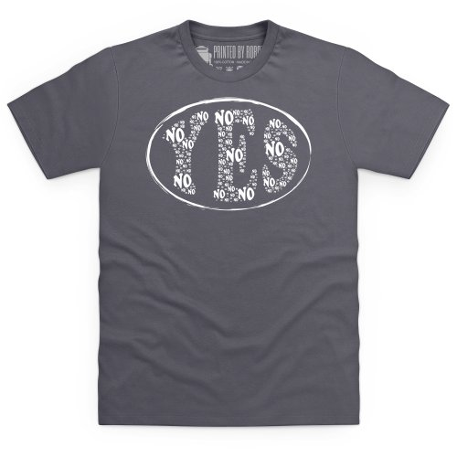 No Yes T-Shirt, Herren Anthrazit
