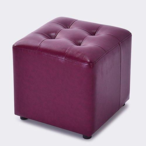 HM&DX Cuero Sintético Otomana Cubo,Tapizado Puff Taburete Mesa Sofá