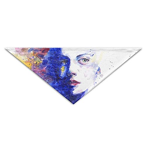 Sdltkhy Watercolor Women Triangle Pet Scarf Dog Bandana Pet Collars Dog Cat - Birthday