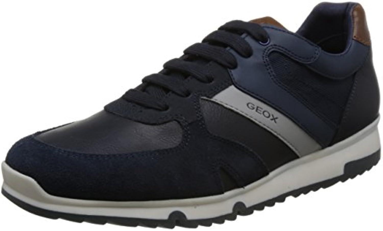 Geox U823XB Uomo Wilmer Sportlich Modischer Herren Sneaker  Schnürhalbschuh  Freizeitschuh  Atmungsaktiv
