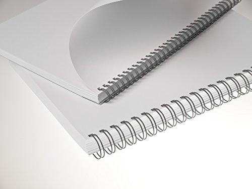 Renz One Pitch Drahtkamm-Bindeelemente in 2:1 Teilung, 23 Schlaufen, Durchmesser 12.7 mm, 1/2 Zoll, grau