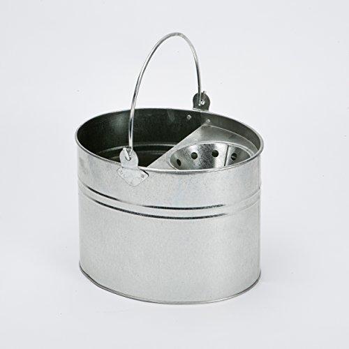 Highlands - Cubo de fregona metálico galvanizado para Limpieza de Suelos en Cocina, baño, hogar.