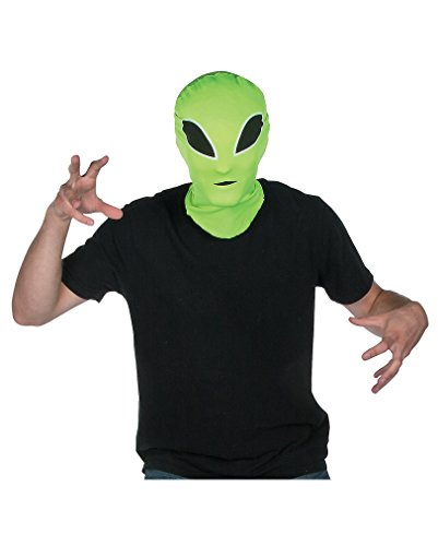 Grüne Alien Halloween Maske