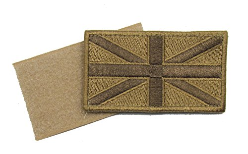 Price comparison product image Badge Union Jack Cloth Badge Embroidered Sand Velcro Backing R741