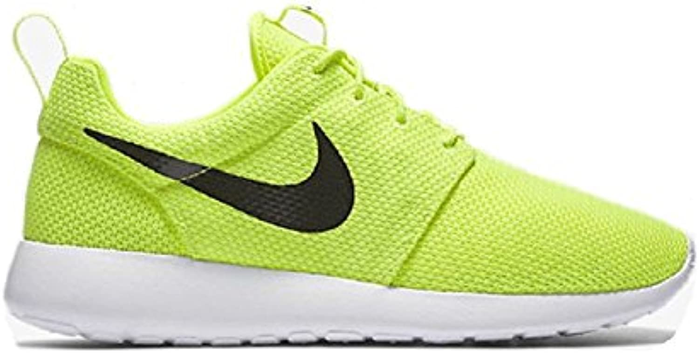 Nike Men'S Roshe One Running Shoes, Negro, Blanco, Blanco, (Volt/Black/White), 42.5 D(M) EU/8 D(M) UK