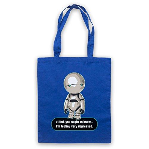 Inspiriert durch Hitchhikers Guide To The Galaxy Marvin Very Depressed Inoffiziell Umhangetaschen Blau