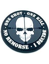 One Shot One Kill No Remorse I Decide Sniper PVC Airsoft Patch
