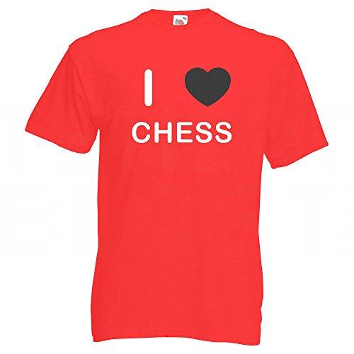 I Love Chess - T-Shirt Rot