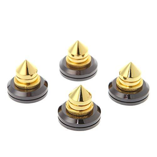SimpleLife Pieds de cône Pieds Cône Base Pads avec Pad Platine Vinyle pour Haut-Parleur Subwoofer Amplificateur 4 Pièces