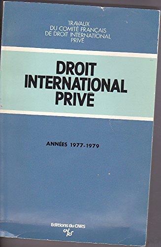 Droit international privé 1977 1979 par Simon Depitre