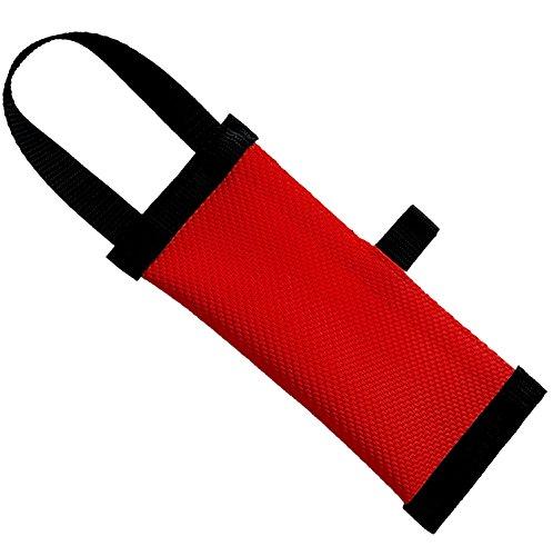 Dog24 Hunde-Futterdummy / Trainingsdummy / Feuerwehrschlauch / Apportier-Tasche für Leckerlies und Hundesnacks, ideal fürs Apportier-Training / Futterbeutel / Leckerlie-Beutel / Apportier-Spielzeug / schwimmfähig / Preydummy / Snack Dummy ((L (25cm))