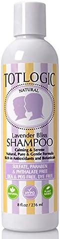 TotLogic Shampooing–Lavande Bliss, 8oz, sans cheveux, sans formaldéhyde