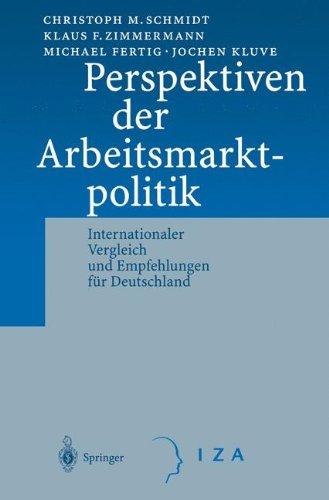 Perspektiven der Arbeitsmarktpolitik: Internationaler Vergleich Und Empfehlungen Für Deutschland
