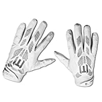 ‏‪EliteTek E-17 Football Gloves Youth & Adult Youth Small white‬‏