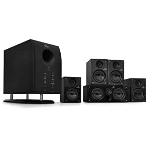 auna mm 5 1 h xcess 5 1 aktives surround boxen lautsprecher set 6500 watt pmpo 95 watt rms. Black Bedroom Furniture Sets. Home Design Ideas