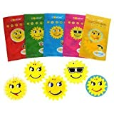 50 X ASSORTED COVEVA SMILEY SUN HANGING CAR VALET AIR FRESHENERS Free P&P