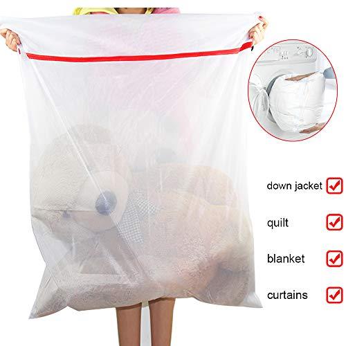 MeCare Wäschenetz xxl Wäschenetze für Waschmaschine 90x120cm Wäschetasche Reißverschluss Wäschebeutel Groß Wäschesack Feinmaschige für Bettzeug Wäsche Netz Wäschesäcke Laundry Bag Aufbewahrungstasche