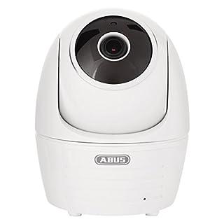 ABUS Innenkamera PPIC32020 mit Schwenk und Neigefunktion   Full HD 1080p   Infrarot Nachtsichtfunktion   mobiler Zugriff via App   weiß   79650