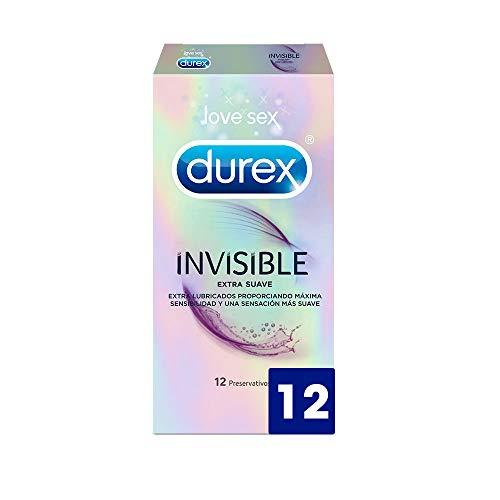 Durex Preservativos Invisible  Extra Fino Extra Lubricado - 12 condones