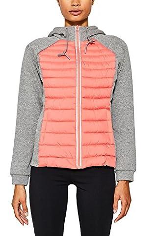 ESPRIT Sports Damen Jacke 077EI1G005-Sweat&Stepp, Grau (Medium Grey 2 036), 38 (Herstellergröße: M)