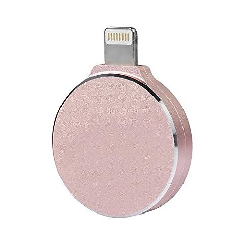 LL TRADER 64 GB Storage Clés USB Flash Drive with Dual Plug for iPhone 5/iPhone 6/iPad Mini/iPad Air/Mac/PC (L4 Stick Mémoire, Rose Gold)