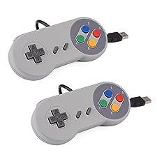 MaximumZ 2pcs Game Controller SNES Manette De Jeu Classique USB Super Nintendo Pour Windows PC / MAC Raspberry pi
