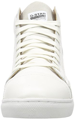 G-Star STANTON HIGH MONO, Sneakers Hautes homme Blanc (bright white)