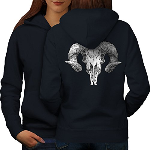 Satan Cornes Femme S-2XL Sweat à capuche le dos | Wellcoda Bleu