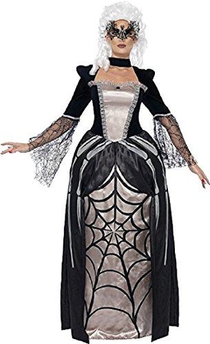 Kostüm Halloween Frau, Black Widow * 24578, mehrfarbig (Black Dress Kostüme Widow)